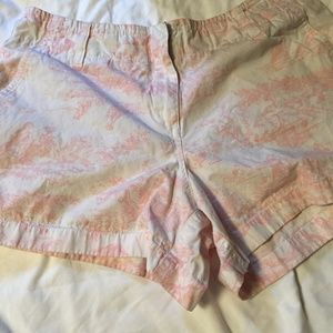 Pants - Pink and White Cotton Short Size 12